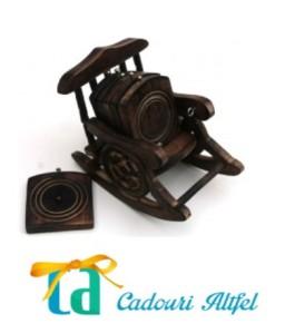 suport pahare lemn vintage